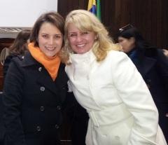 Vereadora com Márcia Fruet, presidente da FAS