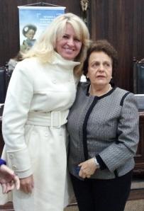 Noemia Rocha com a ministra Eleonora Menicucci