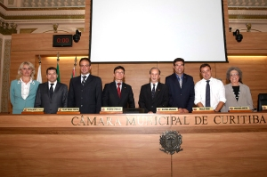 Nova Mesa Diretora da CMC se reúne nesta quarta-feira. Na foto, os parlamentares logo após a eleição realizada em dezembro de 2014. (Foto – Chico Camargo/CMC)