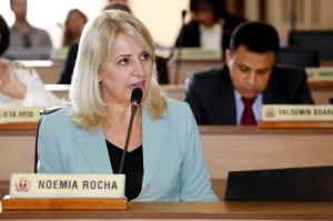 Noemia Rocha solicitou que a Câmara Municipal crie grupo técnico próprio para revisar avaliações da CAI. (Foto – Chico Camargo/CMC)