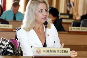 """A vereadora Noemia Rocha destacou a atuação mundial da entidade: """"O trabalho é inquestionável"""". (Foto – Chico Camargo/CMC)"""