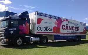 Unidade móvel do programa Cuide-se Mais oferecerá exames de prevenção ao câncer.