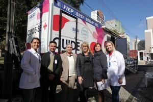 Sesi e Erasto Gaertner firmam parceria em prol da prevenção do câncer. Curitiba. Foto: Mauro Frasson.