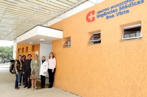 Comissão de Saúde conheceu estrutura da UPA Boa Vista. Ao fundo, prédio da Central de Raio-X. (Foto: Chico Camargo/CMC)